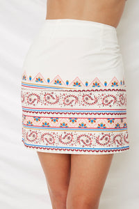 SURREAL SKIRT - White Print