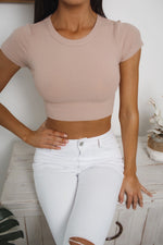 DIANA CROP TOP - Nude