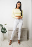 KATE LONG SLEEVE KNIT TOP - Yellow