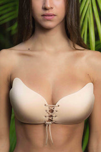 FREEBRA LACE UP - Nude - Dolly Girl Fashion
