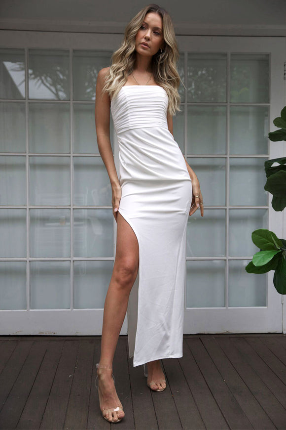 TIMELY MAXI DRESS - White