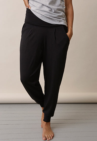 OONO Black Easy Paneled Maternity Pants | Boob Design | Carry Maternity | Toronto Canada