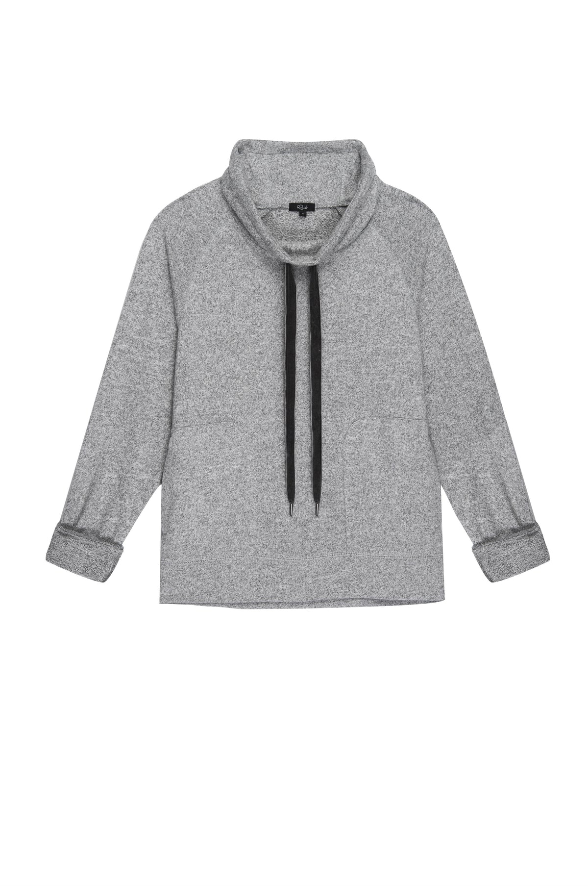 Faith  Melange Grey Cowl Neck Sweatshirt