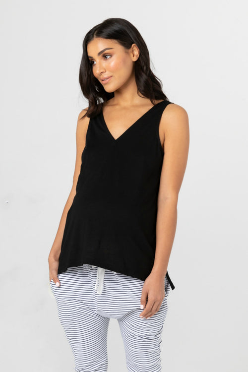 Louis Black Maternity & Nursing Tank Top | Legoe Heritage | Carry Maternity | Toronto Canada