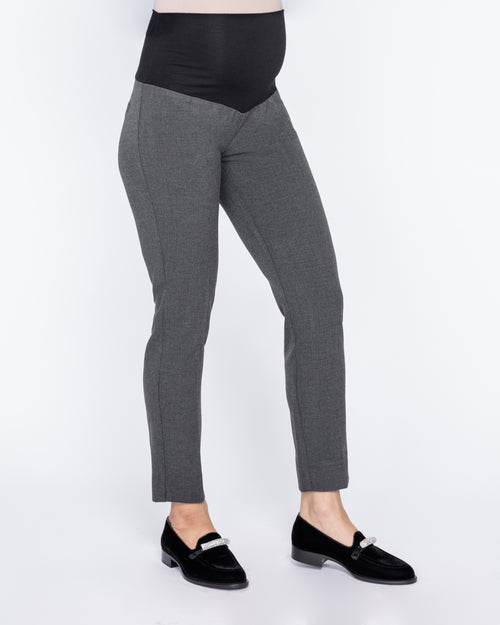 Connor Charcoal Slim Fit Ankle Maternity Trousers
