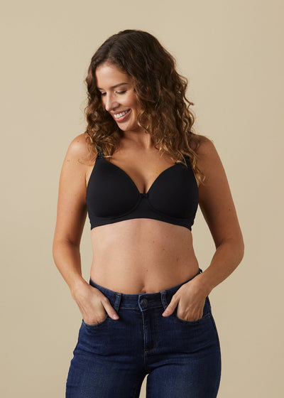 Buttercup Black Maternity & Nursing Bra