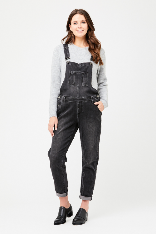 Black Denim Maternity & Beyond Overalls | Ripe Maternity | Carry Maternity | Toronto Canada
