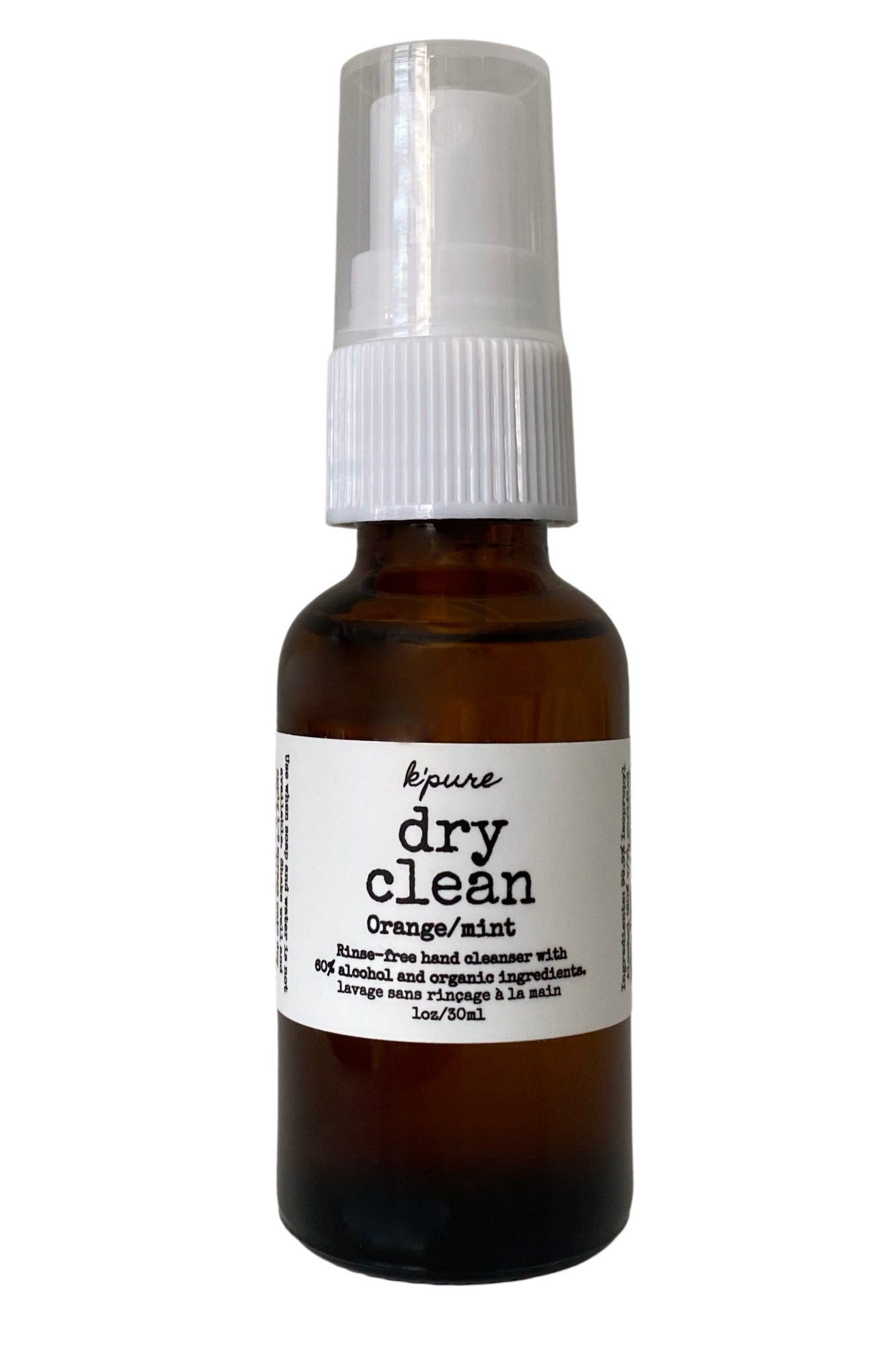 Orange Peppermint Dry Clean Rinse Free Hand Cleanser | K'pure Naturals | Carry Maternity | Toronto Canada