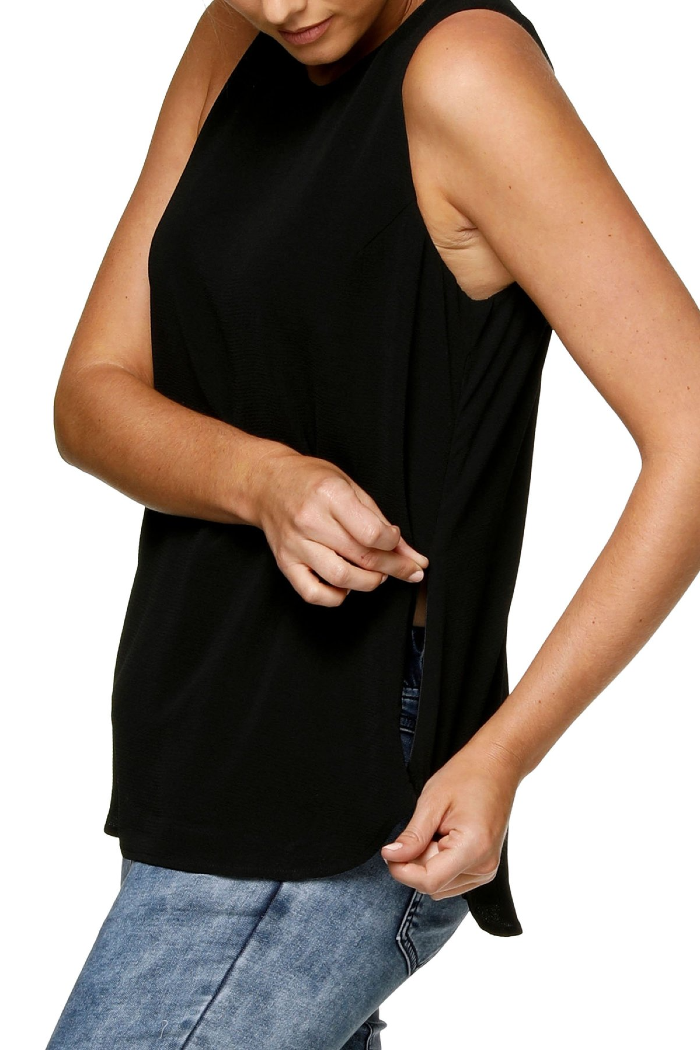 Evolution Black Maternity & Nursing Blouse | Bae The Label | Carry Maternity | Toronto Canada