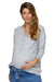 I'm Yours Grey Maternity & Nursing Waffle Henley Top | Bae The Label | Carry Maternity | Toronto Canada