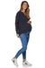I'm Yours Navy Maternity & Nursing Waffle Henley Top | Bae The Label | Carry Maternity | Toronto Canada