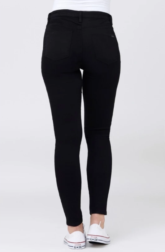 Isla Solid Black Maternity Jegging