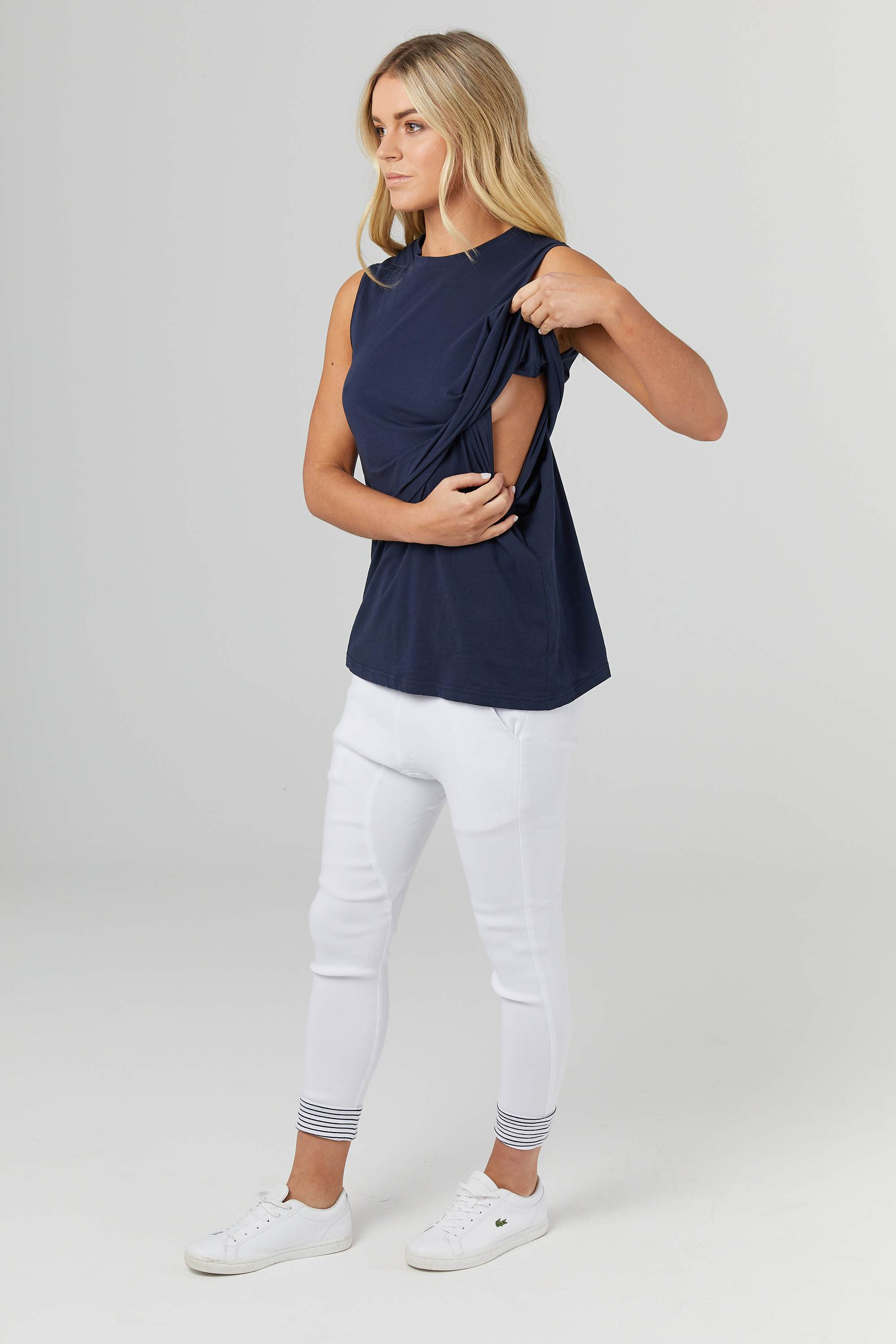 Navy High Neck Maternity & Nursing Tank | Legoe Heritage | Carry Maternity | Toronto Canada