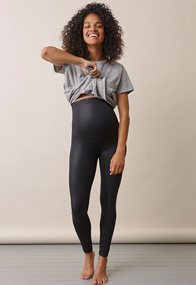 OONO Black Glam Maternity & Beyond Leggings | Boob Design | Carry Maternity | Toronto Canada