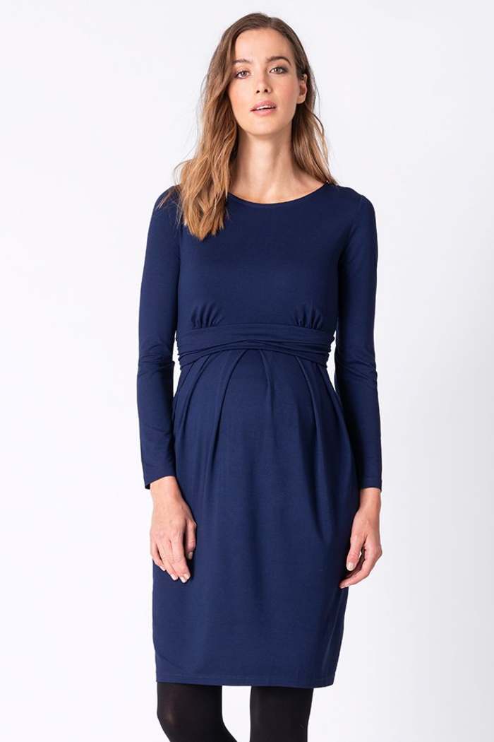 Peachey Cobalt Maternity & Nursing Dress | Seraphine | Carry Maternity | Toronto Canada