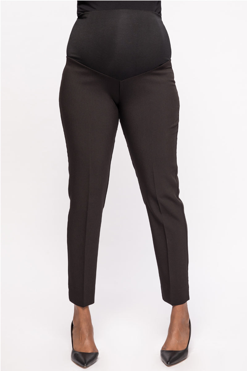 Connor Black Slim Fit Ankle Maternity Trousers