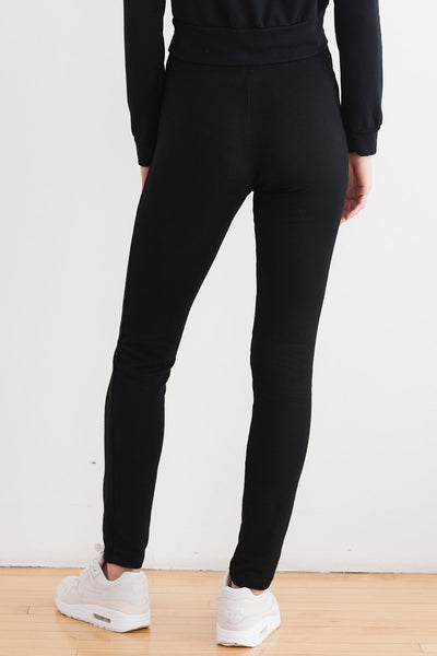 Ronie Black Viscose Fleece Leggings