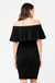 Soiree Black Off Shoulder Maternity Evening Dress | Ripe Maternity | Carry Maternity | Toronto Canada