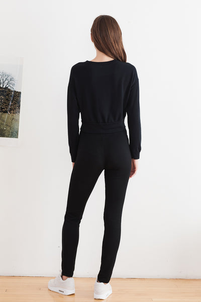 Sammy Black Viscose Fleece Sweatshirt