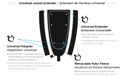 Universal Make My Belly Fit Maternity Jacket Extender Kit | Carry Maternity | Toronto Canada