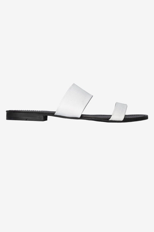 Sara White Two Strap Sandals