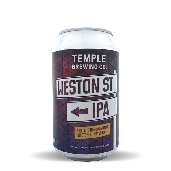 Temple Brewing Weston Street IPA Cans (24x 355mL)