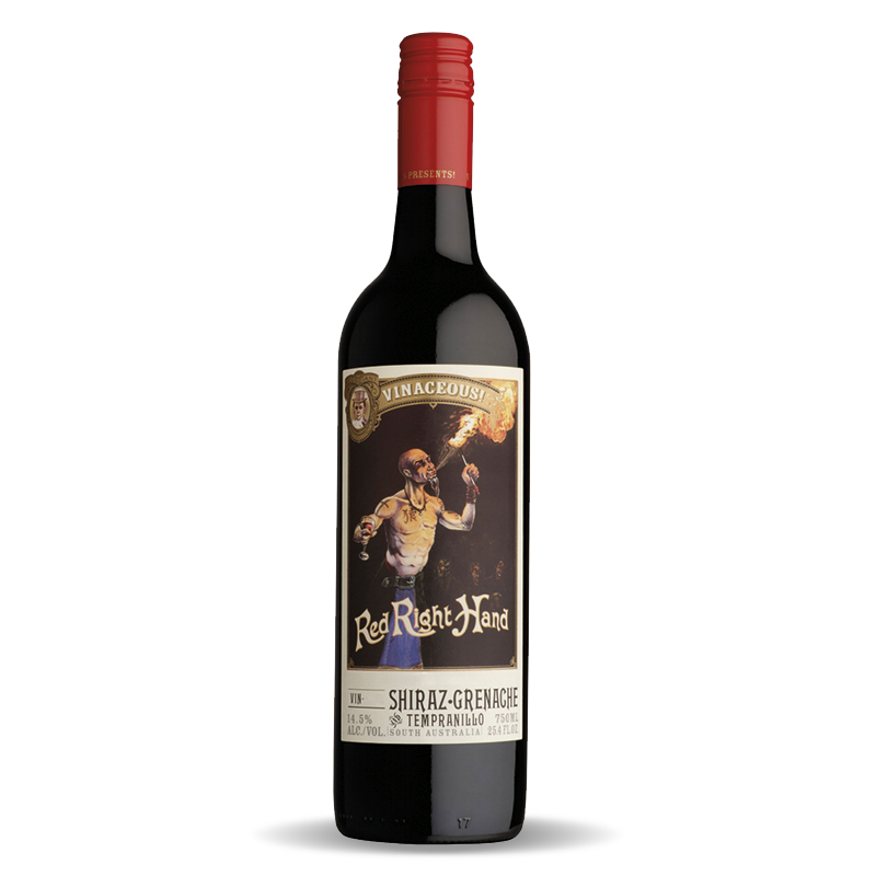Vinaceous Red Right Hand Shiraz Grenache Tempranillo