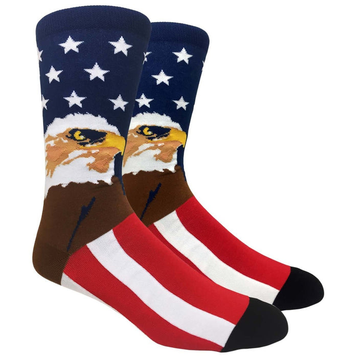MOXY Socks Red, White, and Blue American Eagle Premium Dress Socks