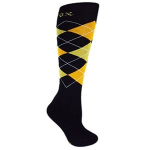 MOXY Socks Knee-High Yellow and Gold Argyle Fitness WOD Socks