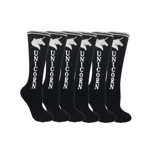 Black with White Super! Unicorn Youth 6-Pack