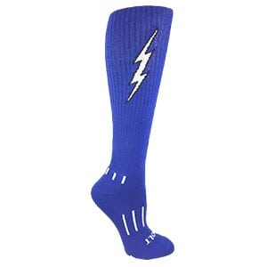 Blue with Black Knee-High Lightning Electric Insane Bolt