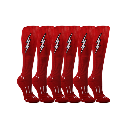 Red with White Insane Bolt 6-Pack