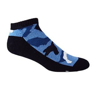 MOXY Socks Black with Blue CAMMO Ammo Tactical No-Show Performance 3-Pack