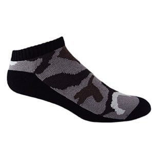 MOXY Socks Black with Brown CAMMO Ammo Tactical No-Show Performance 3-Pack