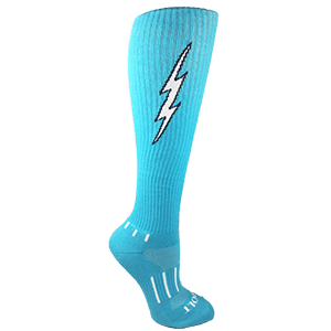 Cyan Blue with Black Insane Bolt 6-Pack