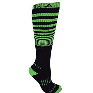 "Black with Lime Green Knee-High Premium ""The Force"" Deadlift Socks"