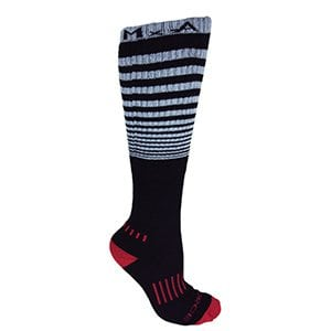 "Black with Grey Knee-High Premium ""The Force"" Deadlift Socks"