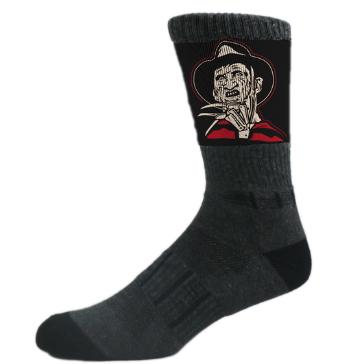 Black Freddy Krueger Halloween Slasher Athletic Crew