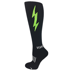 Black with Lime Insane Bolt Knee-High