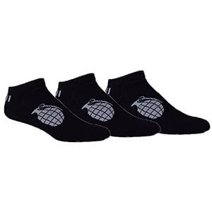 MOXY Socks THE Ultimate Grenade Black with Slate Grey Performance No-Show 3-Pack