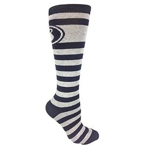 MOXY Socks Black with Gray Striped Kettlebell Fitness Deadlift Socks