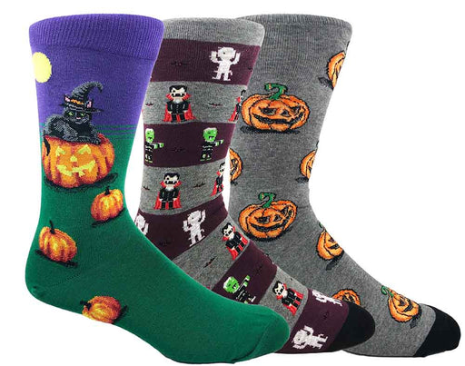 3-Pack Halloween Trick or Treat Crew Socks