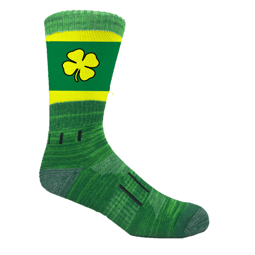Green and Gold Irish Lucky Clover Athletic Crew