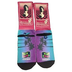MOXY Socks Vaporwave Aesthetic Macintosh Plus Dye Sublimated Crew Socks