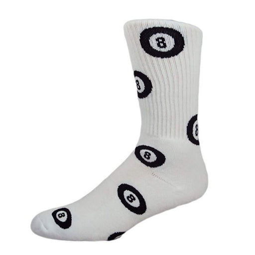 MOXY Magic 8-Ball White and Black Crew Socks