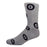 MOXY Magic 8-Ball Gray and Black Crew Socks