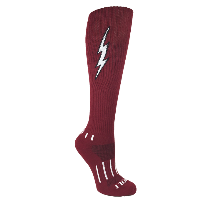 Maroon with Black Knee-High Insane Bolt 3-Pack.