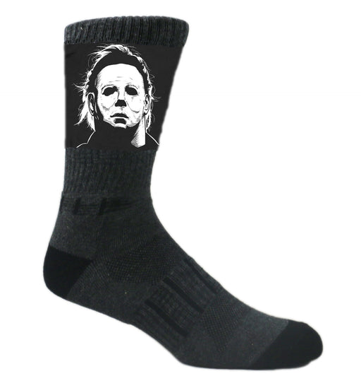 Black Michael Myers Halloween Slasher Athletic Crew
