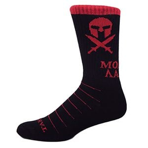 Black and Red Molon Labe Spartan Performance Crew