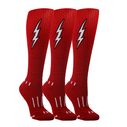 Red with White Insane Bolt 3-Pack